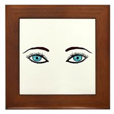 Blue Eyes Framed Tile