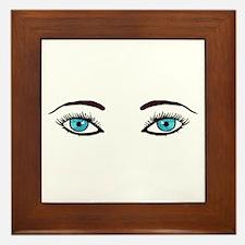 Blue Eyes Framed Tile