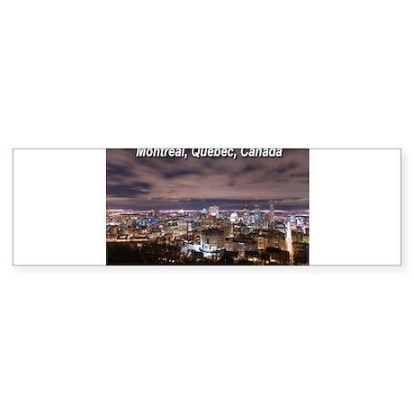 Montreal by night Bumper Sticker