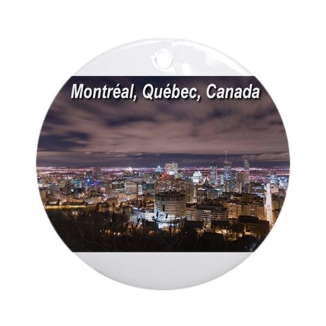 Montreal by night Ornament (Round)