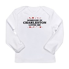 Cute Someone in florida loves me Long Sleeve Infant T-Shirt