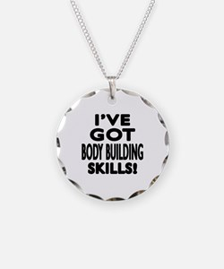 Body Building Skills Designs Necklace