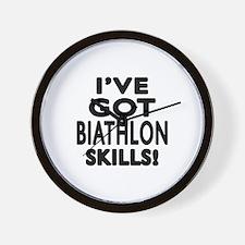 Biathlon Skills Designs Wall Clock