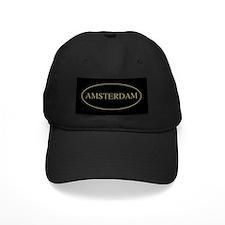 Amsterdam Gold Trim Baseball Hat