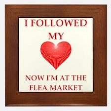 flea market Framed Tile