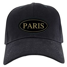 Paris Gold Trim Baseball Hat