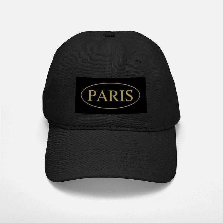 Paris Gold Trim Baseball Hat