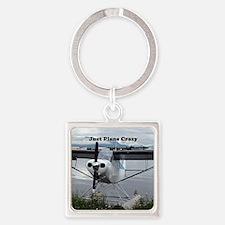 Just plane crazy: float plane 21 Square Keychain