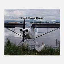 Just plane crazy: float plane 21 Throw Blanket