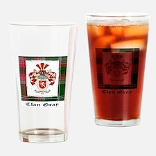 Clan Gray coat and tartan Drinking Glass