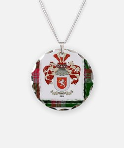 Clan Gray coat and tartan Necklace