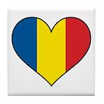 Romanian Heart Tile Coaster