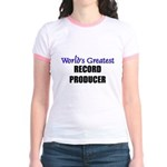 Worlds Greatest RECORD PRODUCER Jr. Ringer T-Shirt