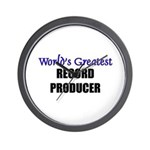 Worlds Greatest RECORD PRODUCER Wall Clock