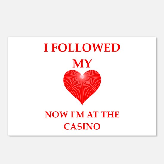 casino Postcards (Package of 8)