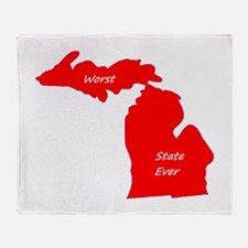 michigan_blank_red.png Throw Blanket