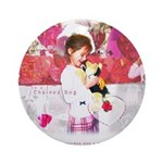 Open Your Heart to a Chained Ornament (Round)