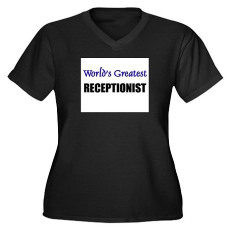 Worlds Greatest RECEPTIONIST Women's Plus Size V-N