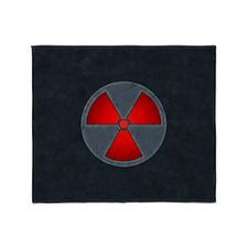 Red Radiation Symbol Throw Blanket