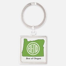 Best of Oregon Square Keychain