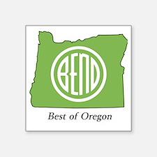 "Best of Oregon Square Sticker 3"" x 3"""