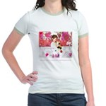 Open Your Heart to a Chained  Jr. Ringer T-shirt