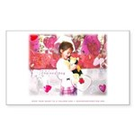 Open Your Heart to a Chained Sticker (Rectangular