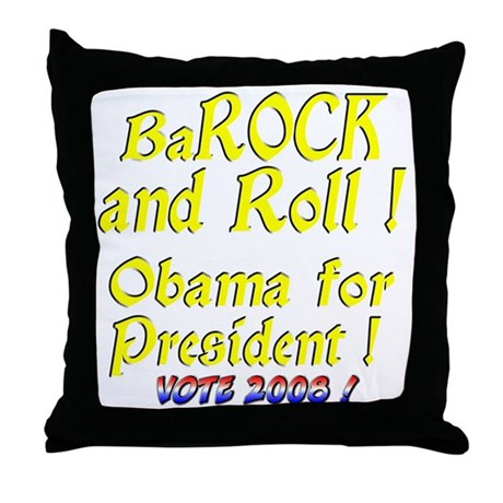 BaRock and Roll Throw Pillow