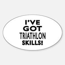 Triathlon Skills Designs Decal