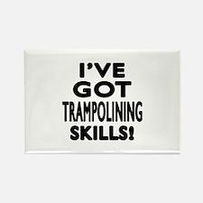 Trampolining Skills Designs Rectangle Magnet