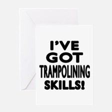 Trampolining Skills Designs Greeting Card
