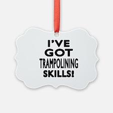 Trampolining Skills Designs Ornament