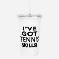 Tennis Skills Designs Acrylic Double-wall Tumbler