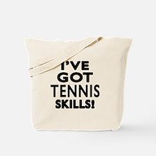 Tennis Skills Designs Tote Bag