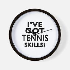 Tennis Skills Designs Wall Clock