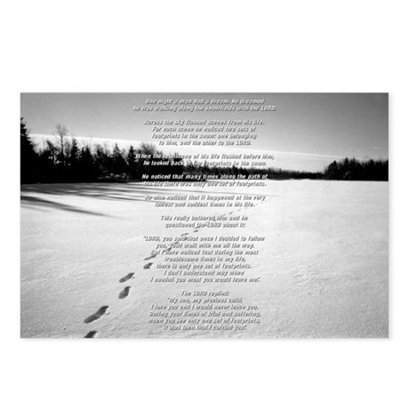 Footprints Postcards (Full Text - Package of 8)