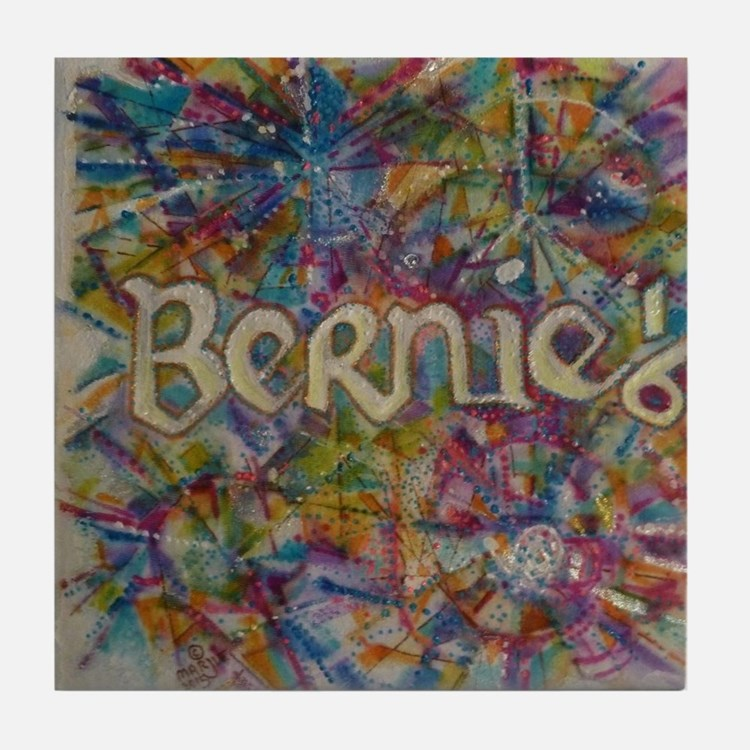 bernie 16 hippy 2 Tile Coaster