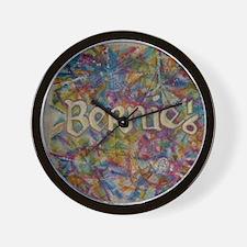 bernie 16 hippy 2 Wall Clock