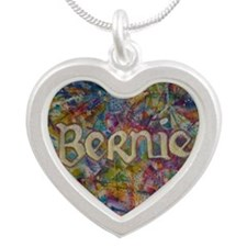 bernie 16 hippy 2 Silver Heart Necklace
