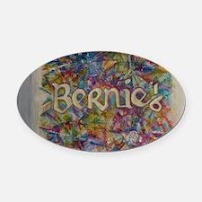 bernie 16 hippy 2 Oval Car Magnet