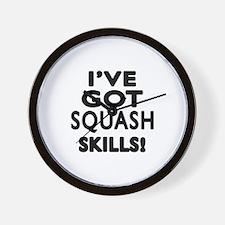 Squash Skills Designs Wall Clock