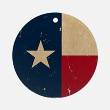 Texas State Flag VINTAGE Round Ornament