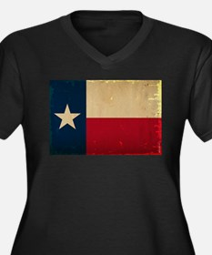 Texas State Women's Plus Size V-Neck Dark T-Shirt