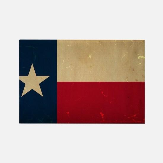 Texas State Flag VINTAGE Rectangle Magnet
