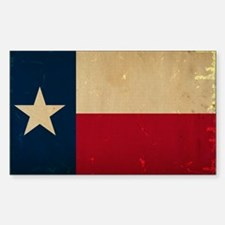 Texas State Flag VINTAGE Decal