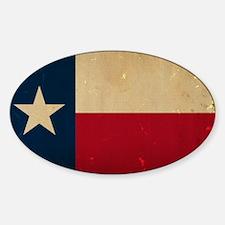 Texas State Flag VINTAGE Sticker (Oval)