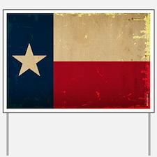 Texas State Flag VINTAGE Yard Sign