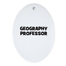 Geography Professor Oval Ornament