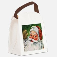 Vintage Santa Face 1 Canvas Lunch Bag