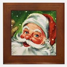 Vintage Santa Face 1 Framed Tile